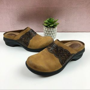 Ariat Brown Leather Clogs Shoes Size 8